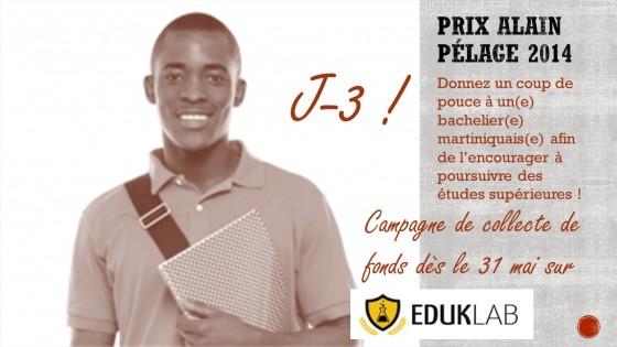 Campagne de Crowdfunding du Prix Alain Pélage : J-3 avant le lancement !